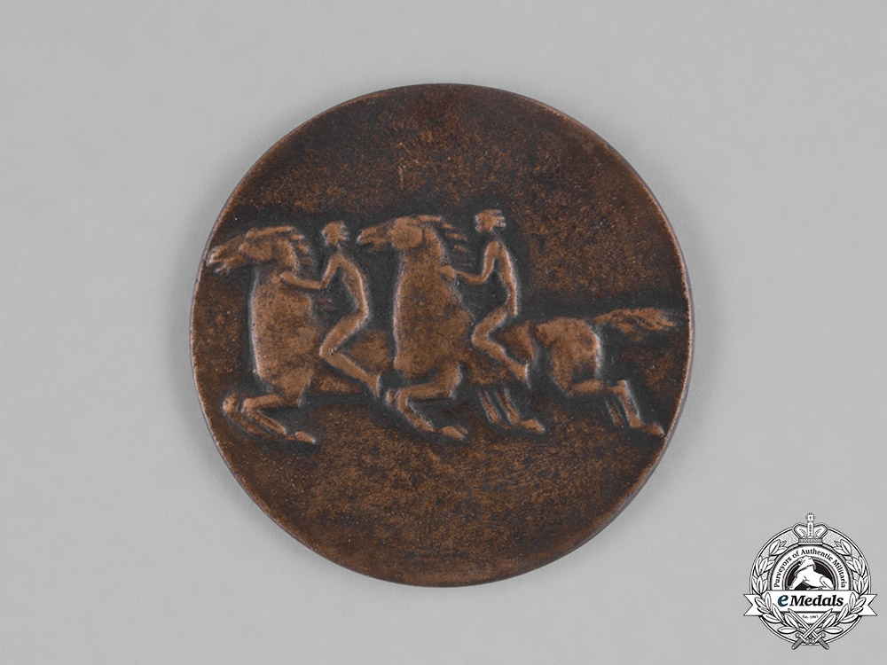 Germany, Third Reich. A 1934 Horse Racing Grand Prize Medallion