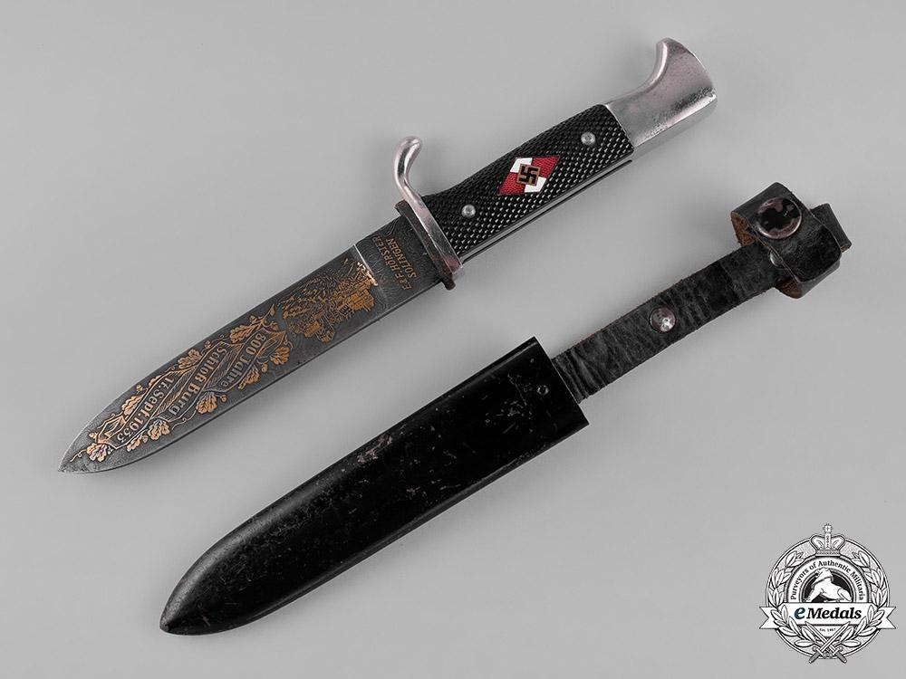 Germany, HJ. A Schloß Burg (Castle Burg) 800-Year Anniversary Custom HJ Knife by E. & F. Hörster