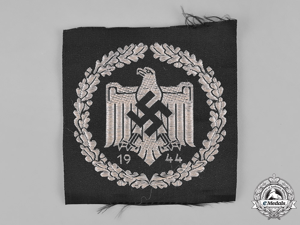 Germany, DRL. A Silver Sports Cloth Badge, 1944