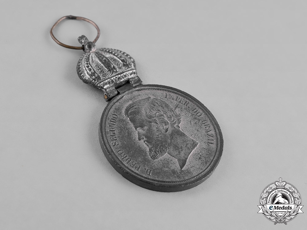 Brazil, Empire. A Medal for the Uruguay Campaign, Officer's Silver Medal c.1852