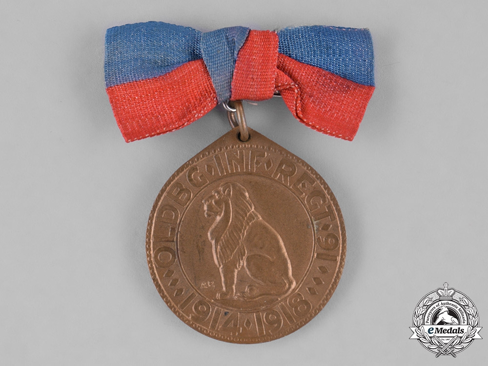 Germany, Imperial. An Oldenburg Infantry Regiment 91 Commemorative Medal for Female Recipient
