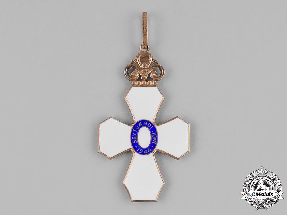 Iceland, Republic. An Order of the Falcon, Commander's Cross, by Kjartan Asmundsson, c.1950