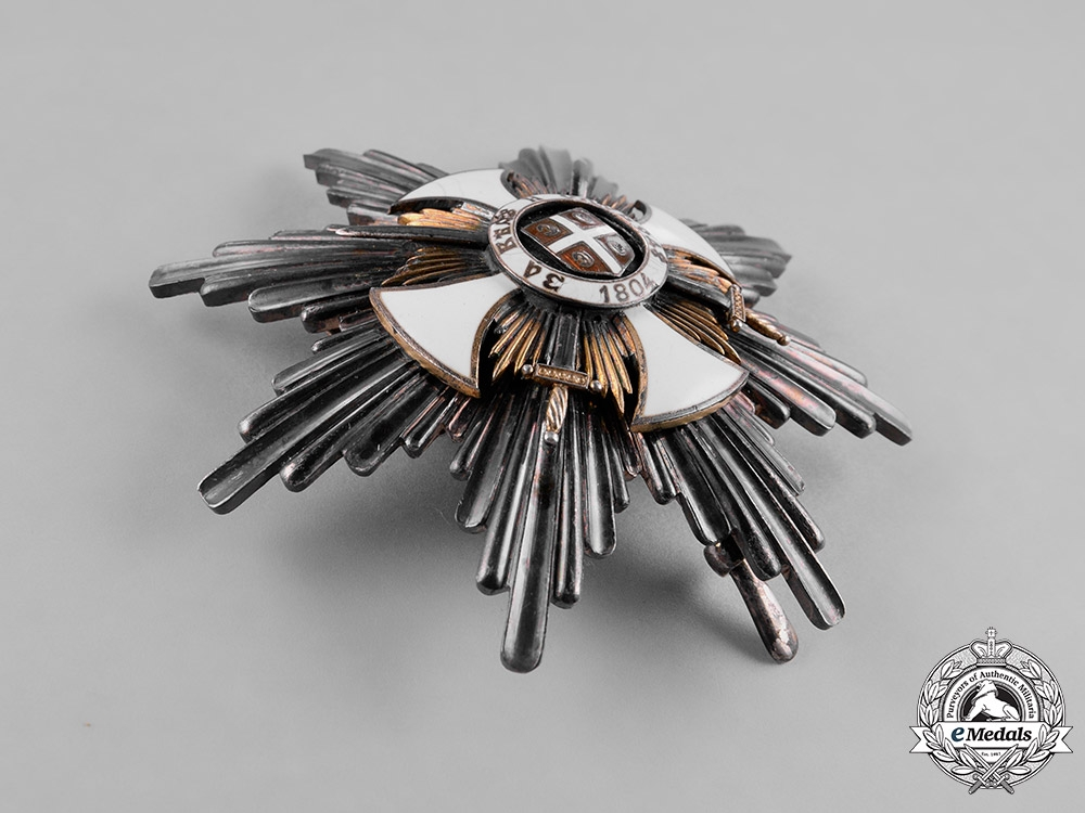 Serbia, Kingdom. An Order of Karageorge, 1. Class Star with Swords, c.1916, by Bertrand, Paris
