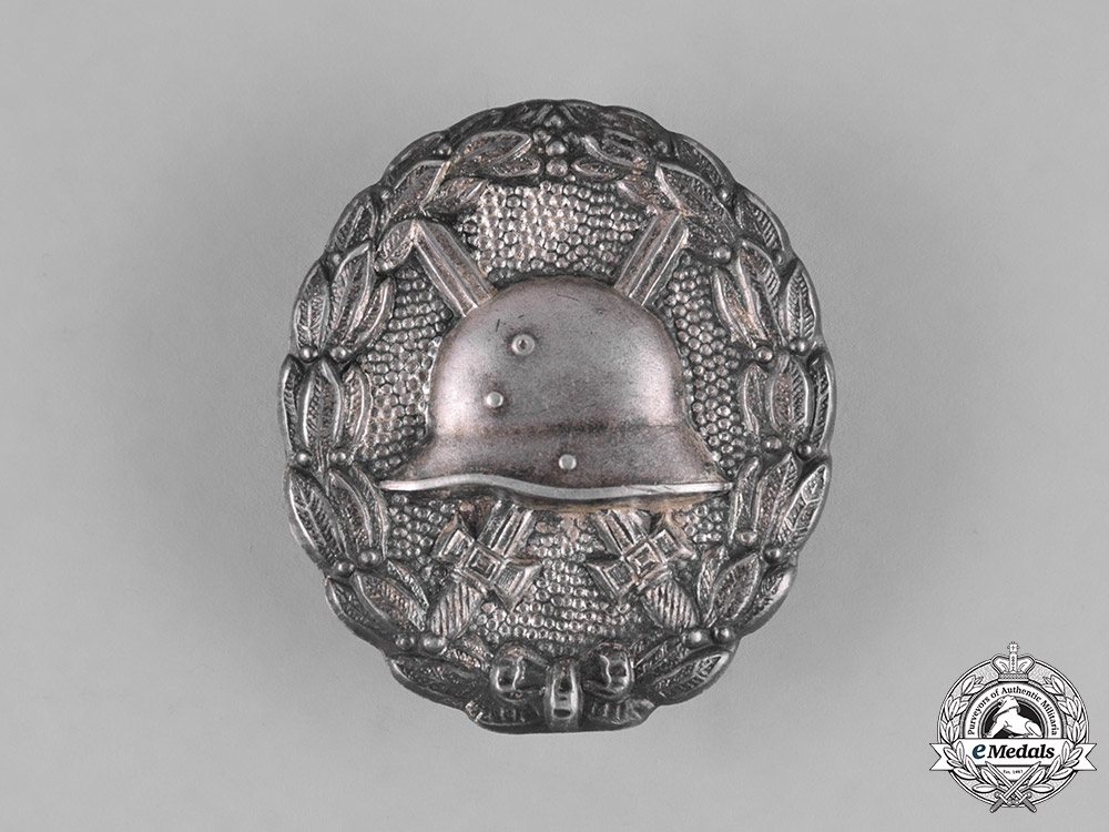 Germany, Wehrmacht. A Rare Silver Wound Badge, Silver Grade, by Königliches Muenzamt
