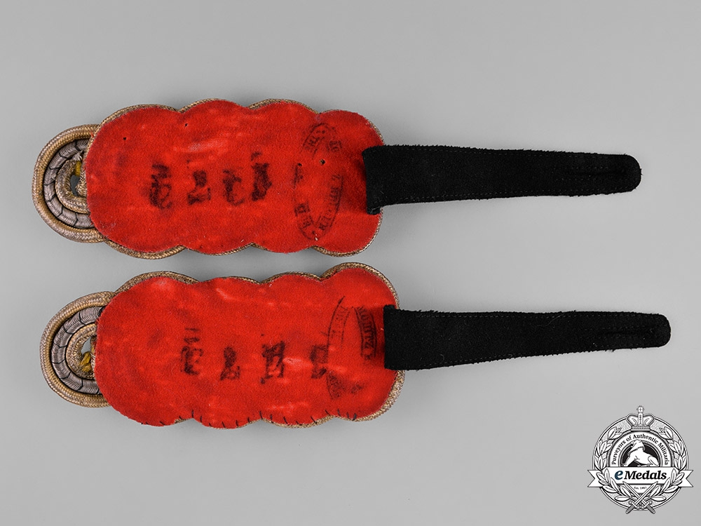 Prussia, State. A Pair of Prussian Field Marshal Shoulder Boards, c.1870