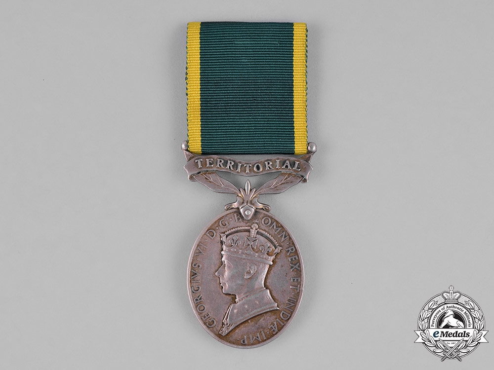 United Kingdom. An Efficiency Medal with Territorial Scroll, Royal Artillery