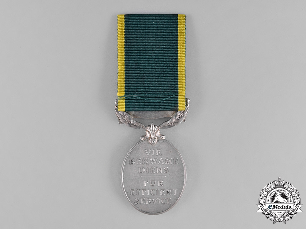 South Africa. An Efficiency Medal with Union of South Africa in English and Afrikaans Scroll