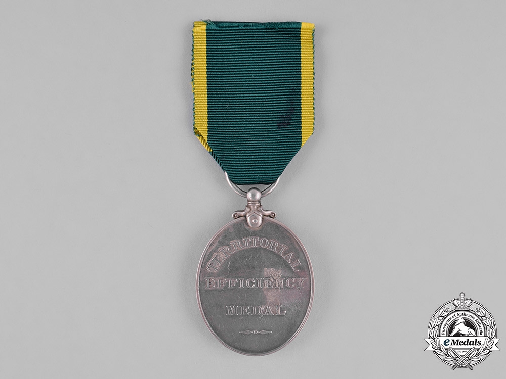 United Kingdom. A Territorial Efficiency Medal, Royal Artillery