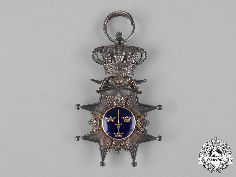 Sweden, Kingdom. An Order of the Sword, Knight with Swords, c.1910