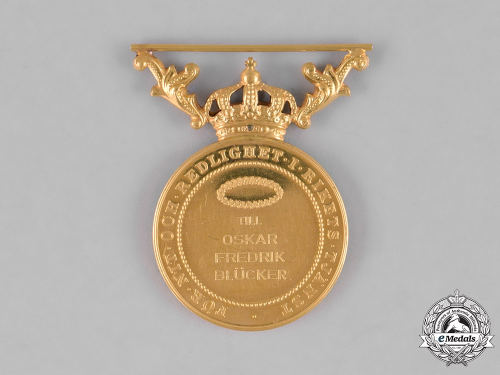 Sweden, Kingdom. A Medal for Zeal and Devotion in Gold, I Class, c.1910