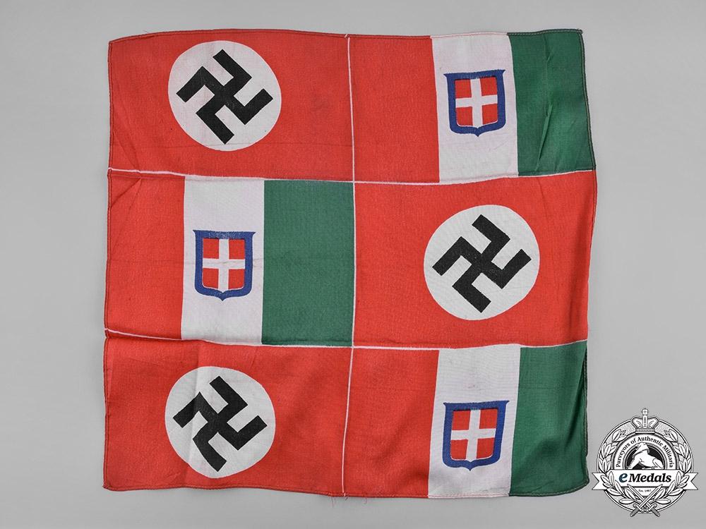 Italy, Kingdom  A Fascist Italian and Third Reich Alliance Flag