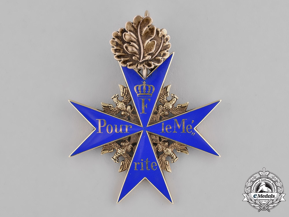 Germany, Imperial. The Pour-le-Mérite with Oak Leaves, to Hugo Gottlieb von Kathen, Commander of the 74th Infantry