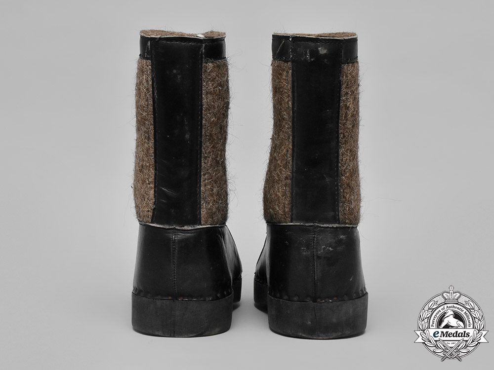 Germany, Wehrmacht. A Pair of Wehrmacht Winter Sentry Boots by Anton Bartowski, c. 1943