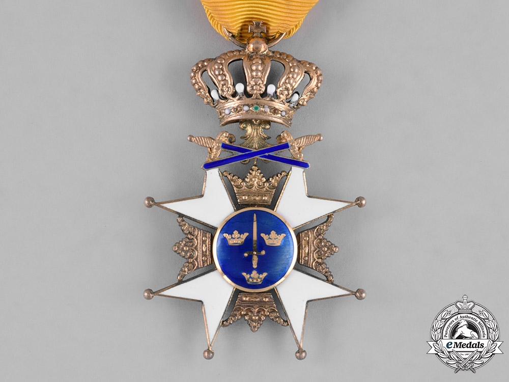 Sweden, Kingdom. An Order of the Sword, I Class Knight, c.1945