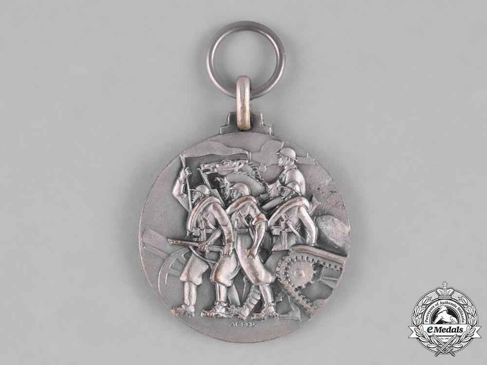 Italy , Kingdom. A Spanish Civil War Italian Corps of Volunteer Troops Battle of Santander Medal 1937