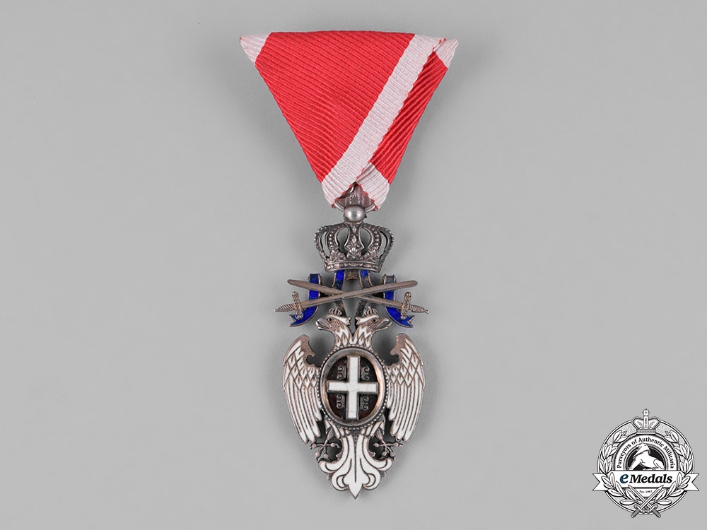 Serbia, Kingdom. An Order of the White Eagle, V Class with Swords, Knight, c.1940