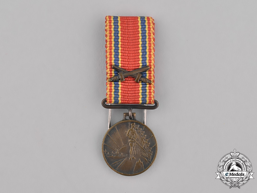Latvia, Republic. A Miniature Medal for the 10th Anniversary of the Liberation War, c.1940