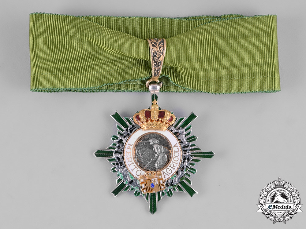 Spain, Constitutional Monarchy. An Order of Agrarian Merit, Commander, c.1975