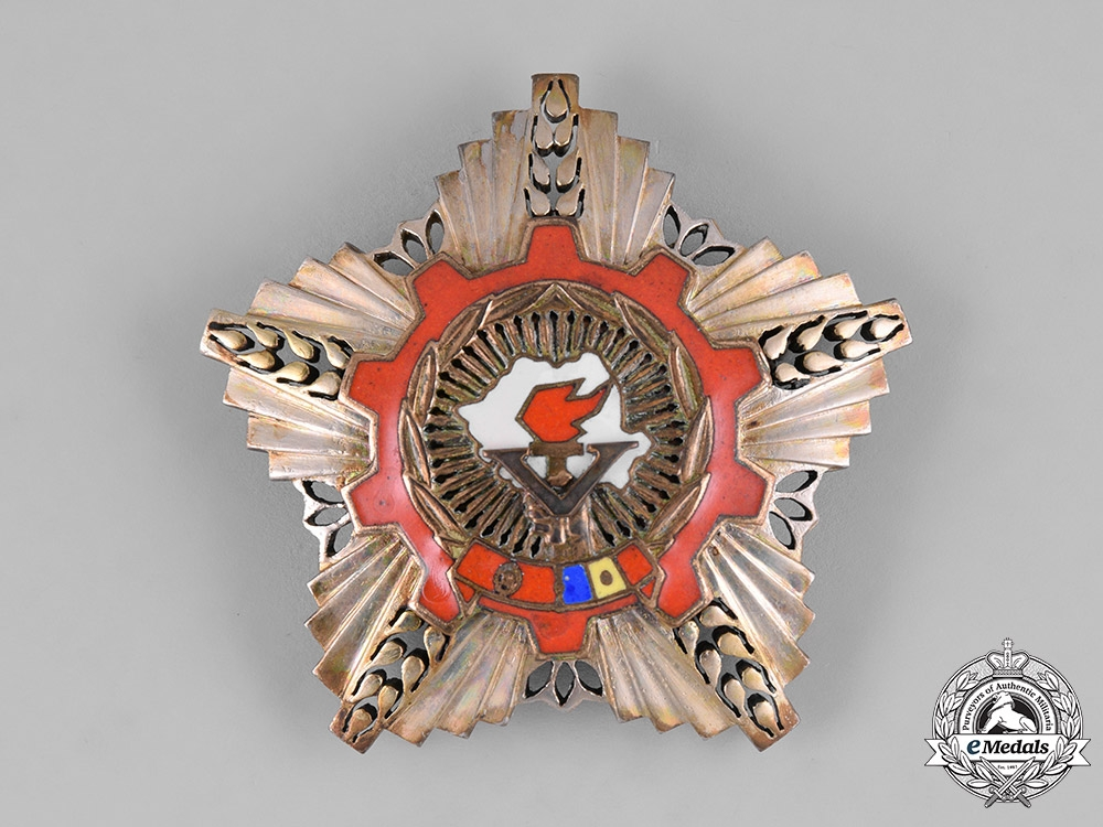 Romania, Socialist Republic. An Order of the Victory of Socialism, Bronze Grade