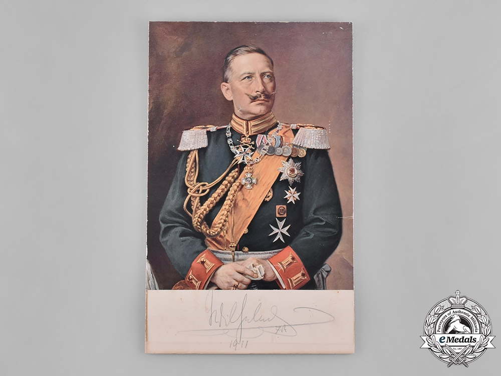 Germany, Imperial. An Autographed Portrait of Kaiser Wilhelm II Given to Dr.Goodwin