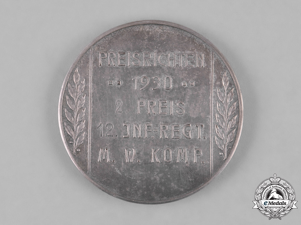Germany, Weimar. A 1930 Heer (Army) War Games Second Prize Medallion