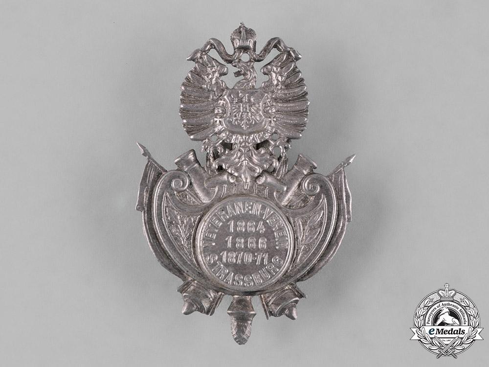 Germany, Imperial. A Strasbourg Veterans Association Cap Badge