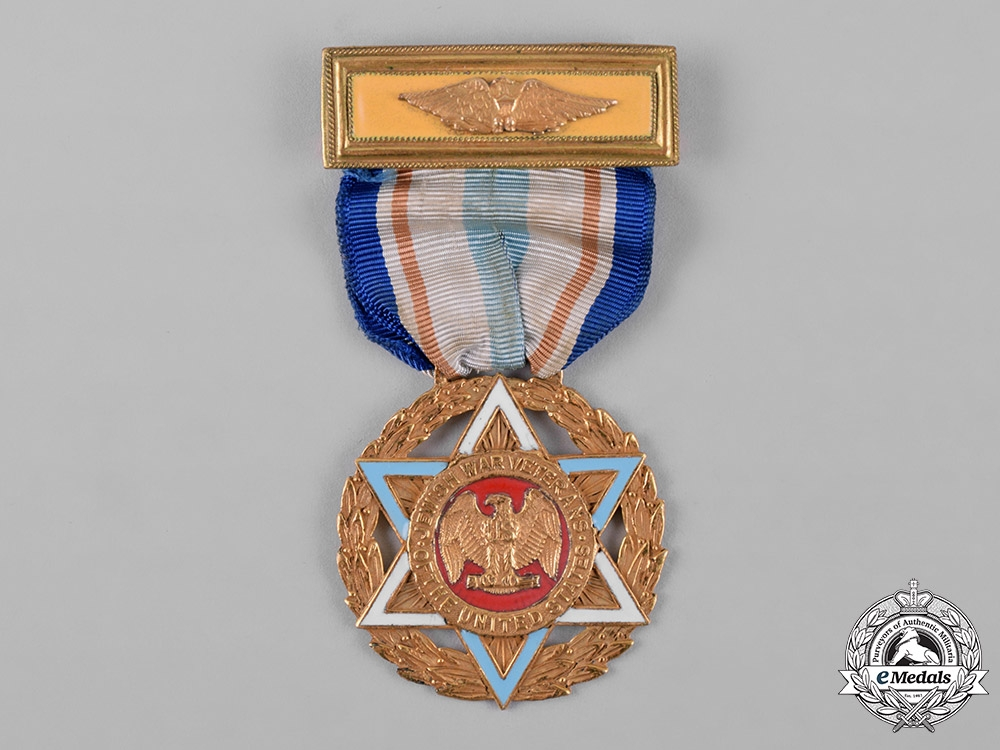 United States. A Jewish War Veterans Medal, with Lapel Pin and Case