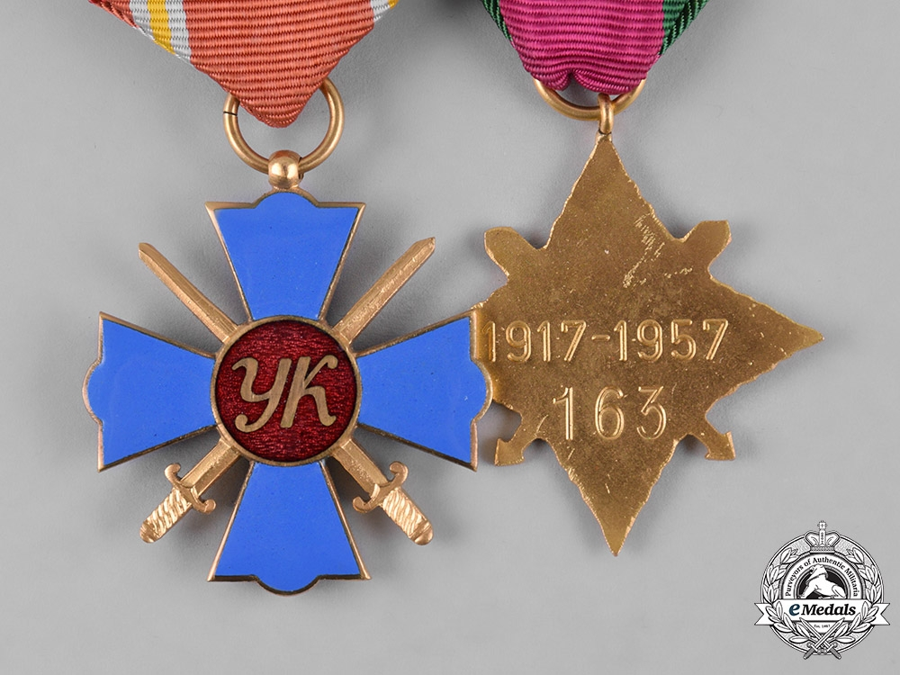 Ukraine. A Veteran's Pair of Medals & Decorations