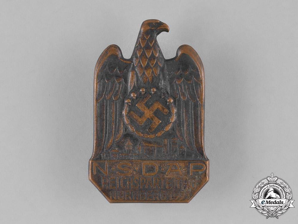 Germany, NSDAP. A 1933 Nuremberg Rally Badge