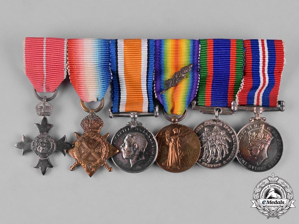 Canada. A Miniature OBE First & Second War Group