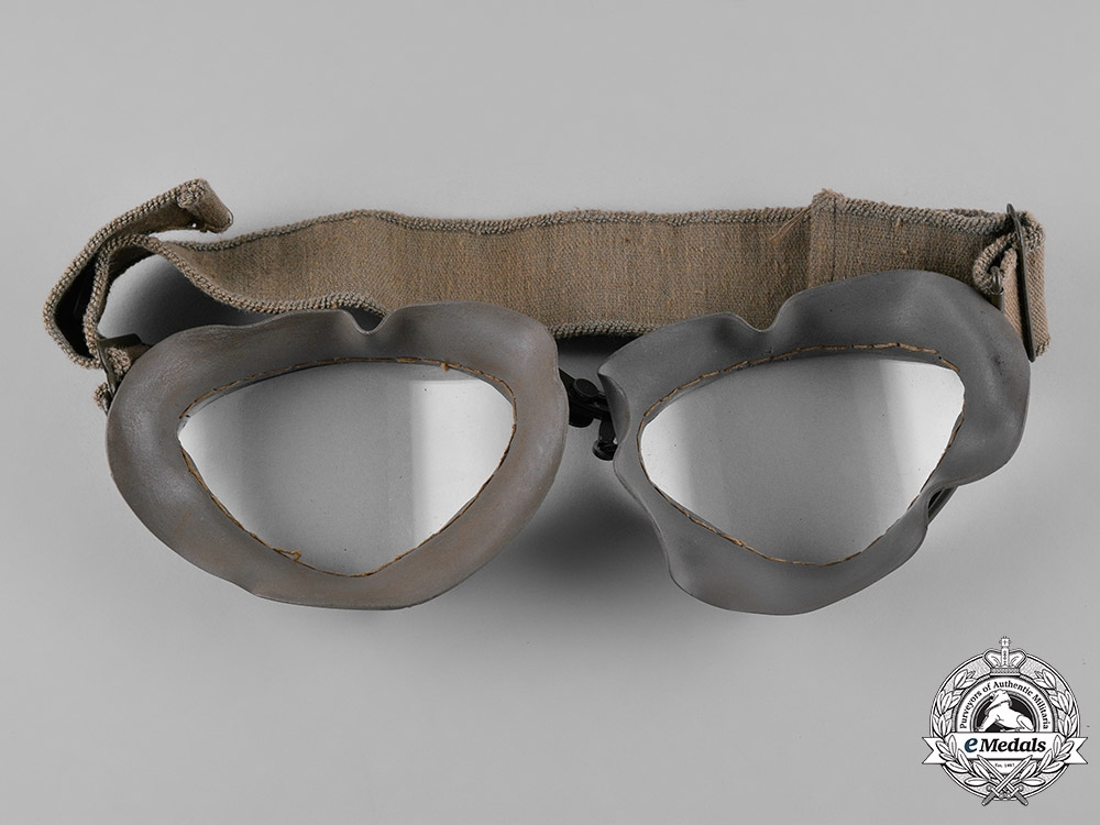 Germany, Luftwaffe. A Set of  Flight Goggles with Case, by M.W., c.1941