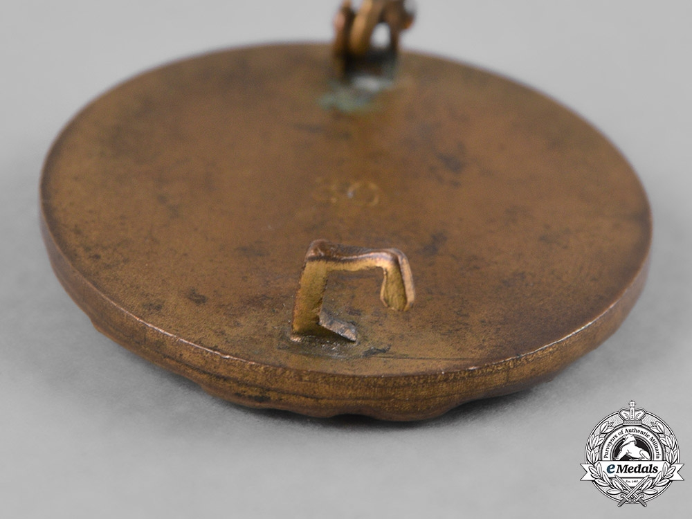 Germany, Wehrmacht. A Wound Badge, Gold Grade with Case, by Hauptmünzamt Wien