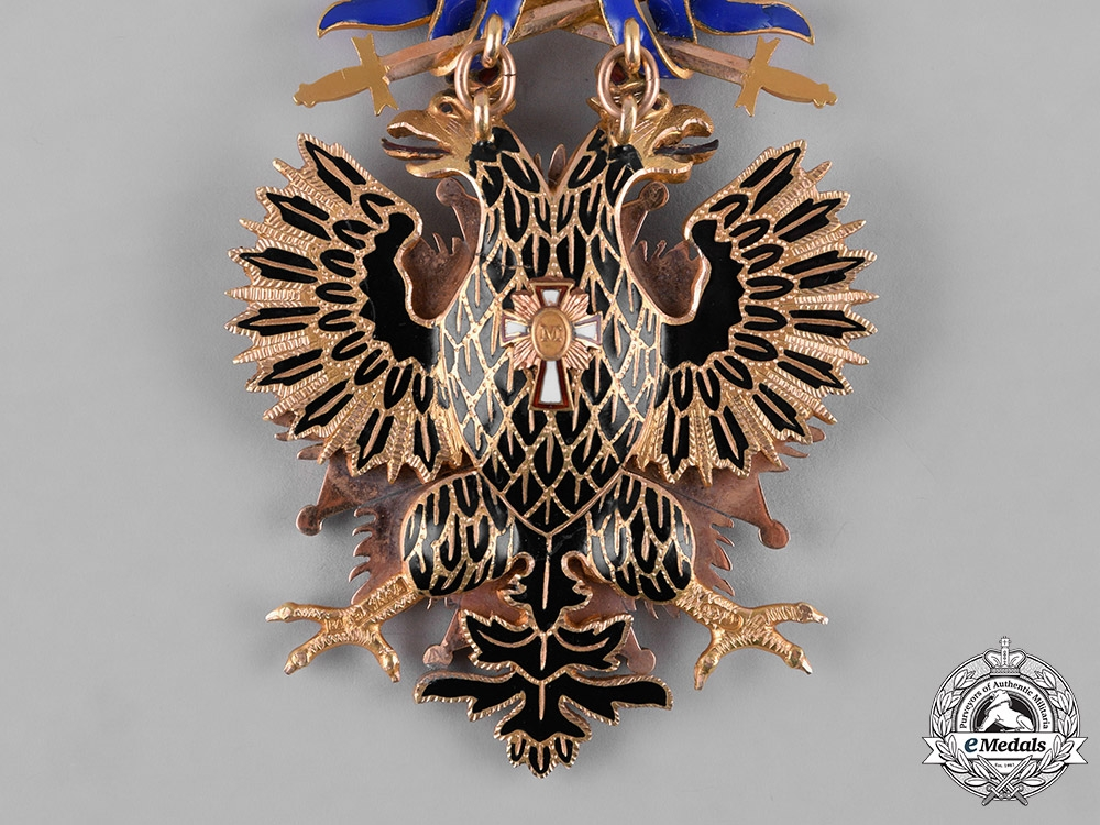Russia, Imperial. An Order of the White Eagle, Badge and Breast Star with War Decorations, by Eduard, c.1914