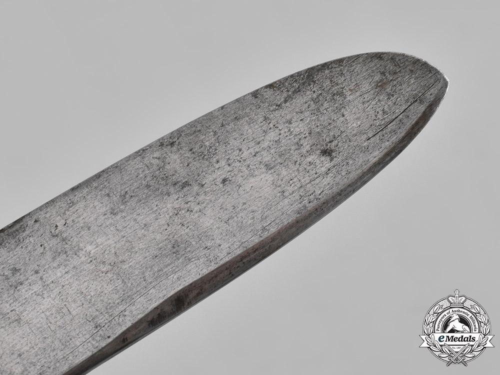 Spain, Civil War. A Franquist Falange Youth Knife with Belt & Buckle, c.1936