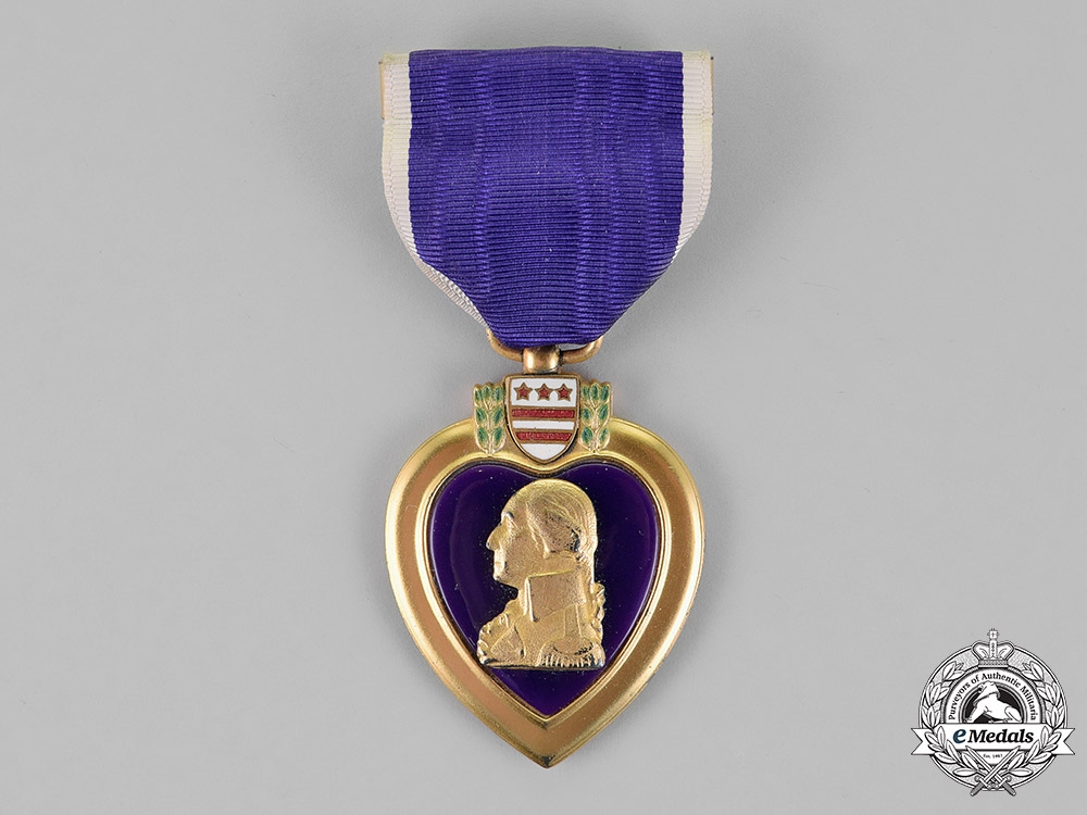 United States. A Purple Heart to Private Creech, Jr., United States Marine Corps, KIA during the Battle of Tarawa, 1943
