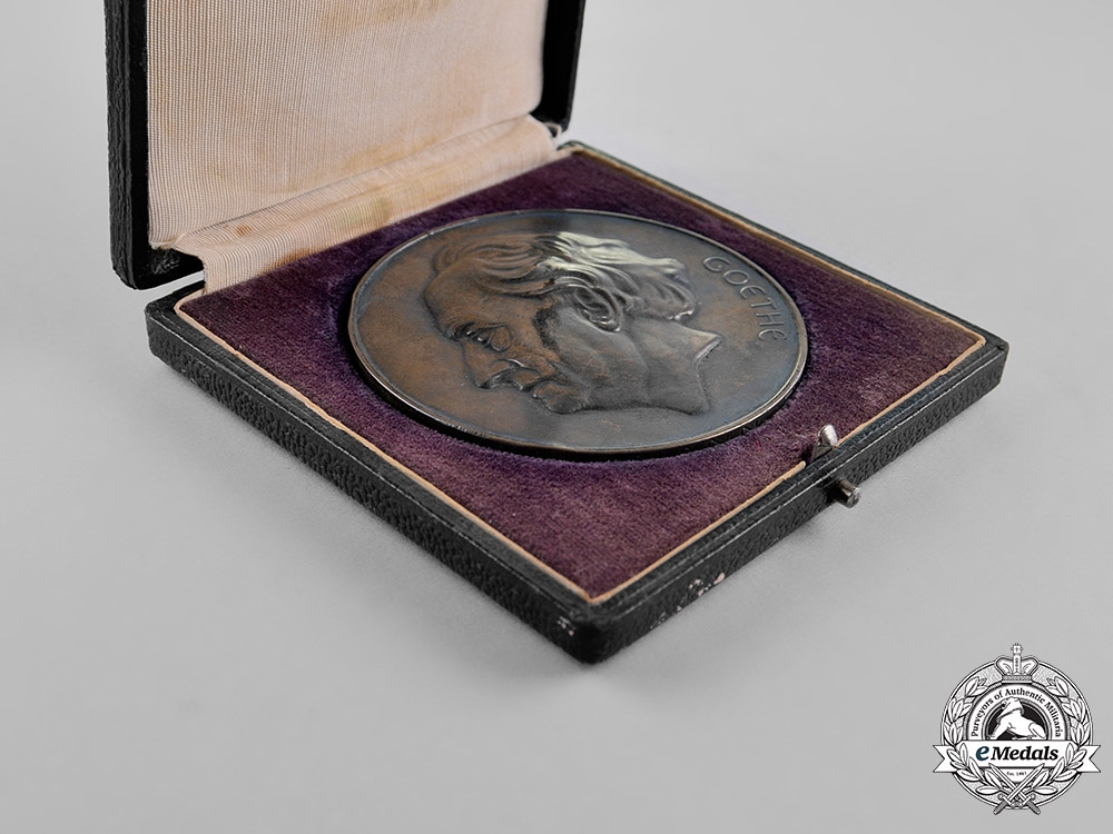 Germany. A Cased 1932 Goethe Medal for Arts and Science to H. Bohle in its Case of Issue