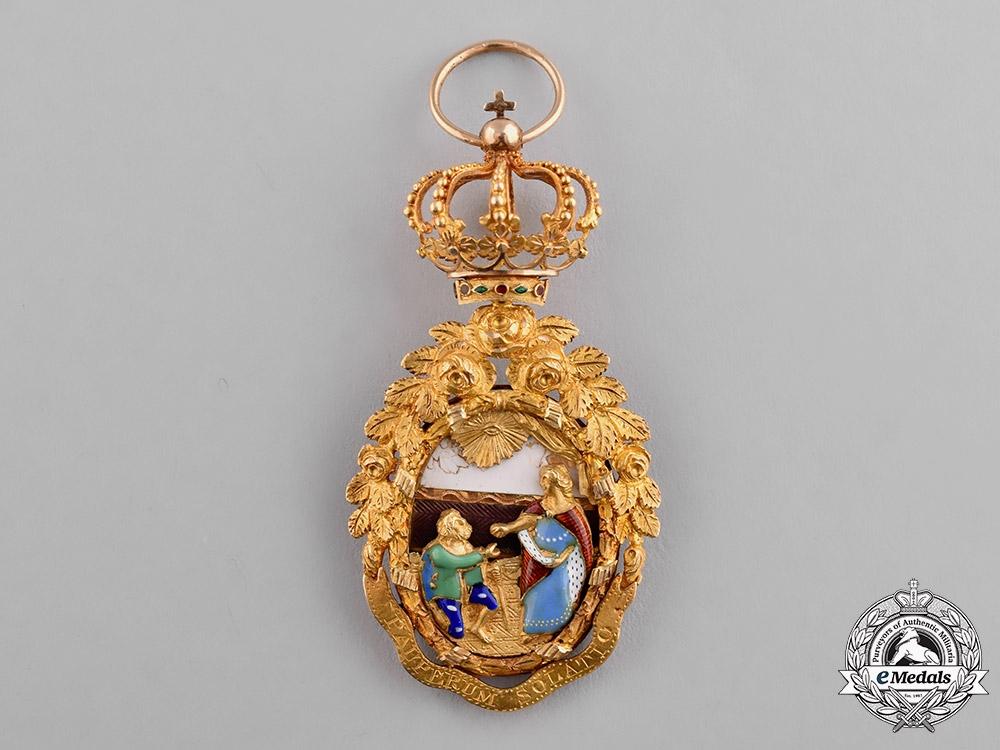 portugal kingdom a superb order of st isabella ladies sash badge