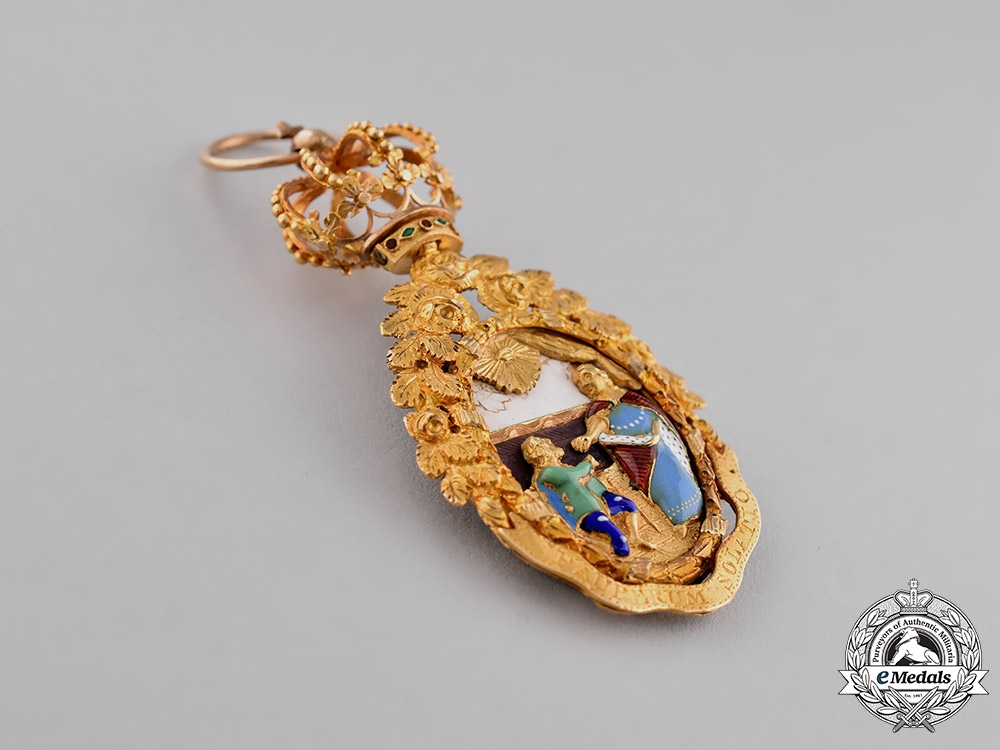 Portugal, Kingdom. A Superb Order of St. Isabella, Ladies Sash Badge, c.1820