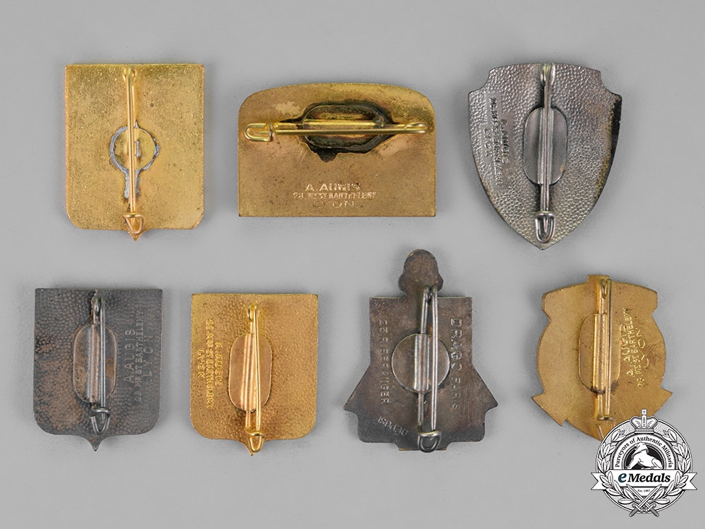 France, Republic. A Lot of Seven French Marine Badges