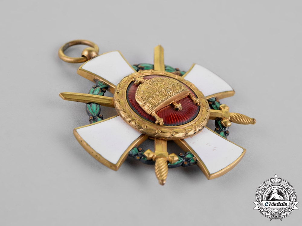 Hungary, Kingdom. An Order of the Holy Crown, Knight's Cross with Swords & War Decoration, 1942 Version