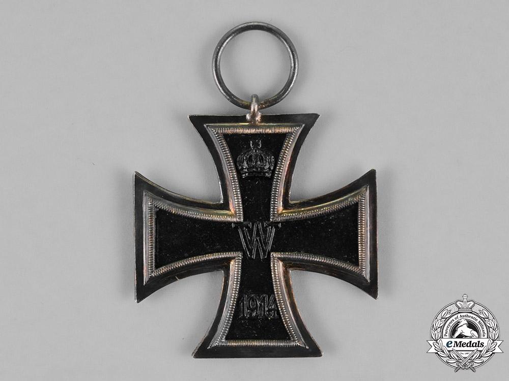 Prussia. An Iron Cross 1914 Second Class and a Bremen Hanseatic Cross