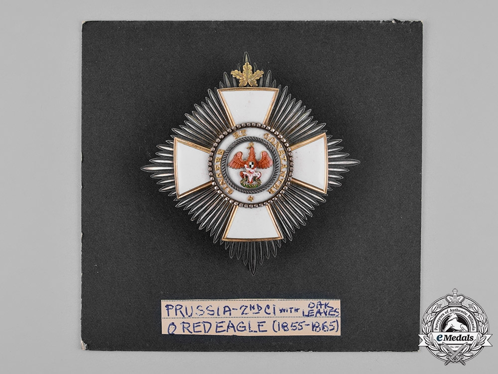 Prussia, State. A Red Eagle Order, II Class Star with Oakleaves, c.1860