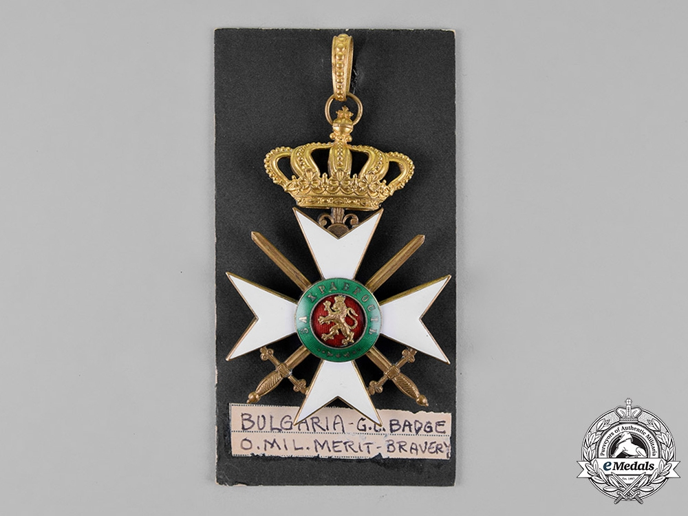 Bulgaria, Kingdom. A Military Order of Bravery, Knight Grand Officer, c.1900