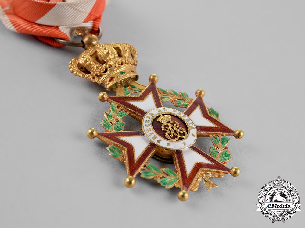 Monaco, Principality. An Order of Saint Charles, Officer's Cross, c.1910