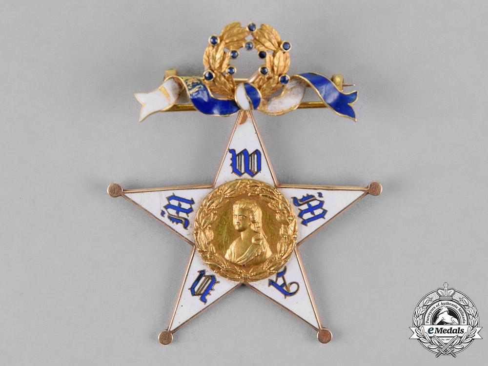 United States. A National Mary Washington Memorial Association (NMWMA) Membership Badge, c.1905