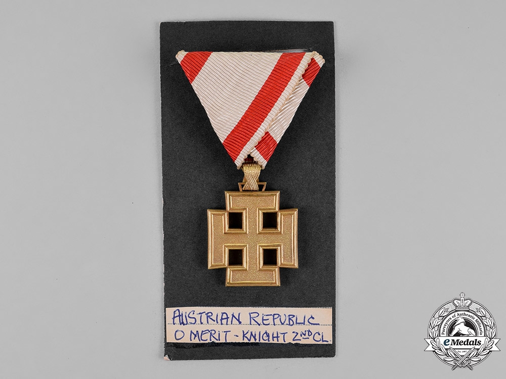 Austria, Republic. An Order of Merit, Gold Cross, c.1936
