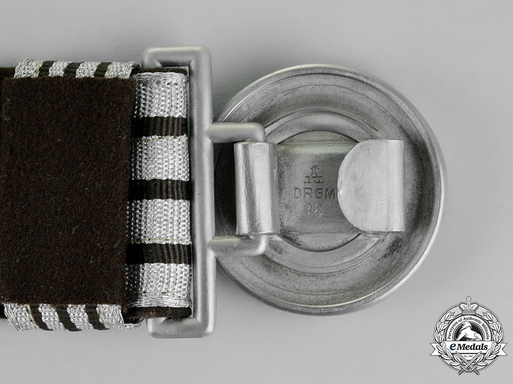 Germany, RAD. A National Labour Service Officer's Brocade Belt with Buckle, by F.W. Assmann