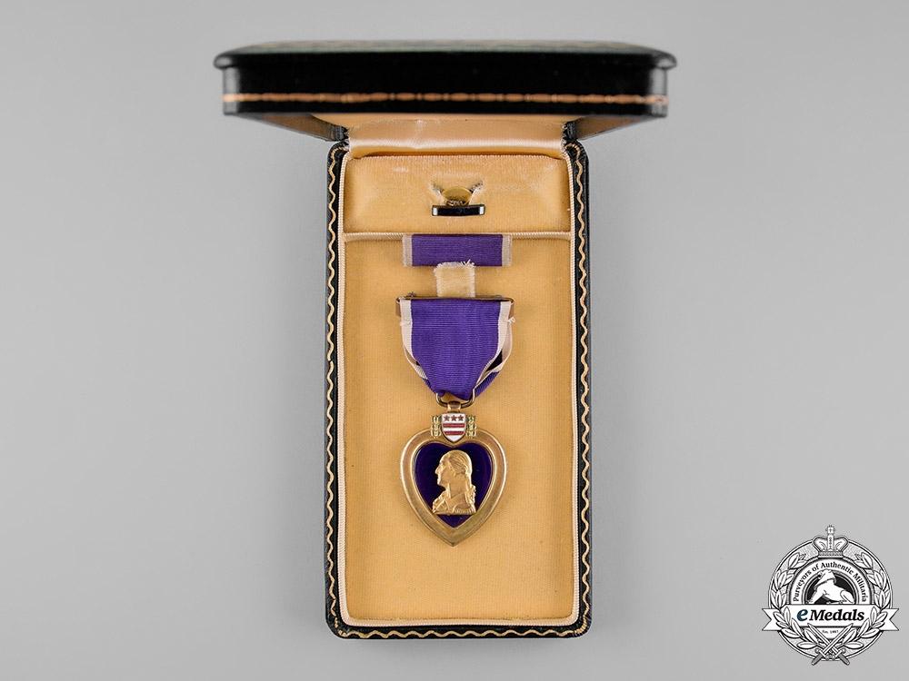 United States. A Purple Heart to Signalman Luiz, USN, KIA by Kamikaze, USS Louisville