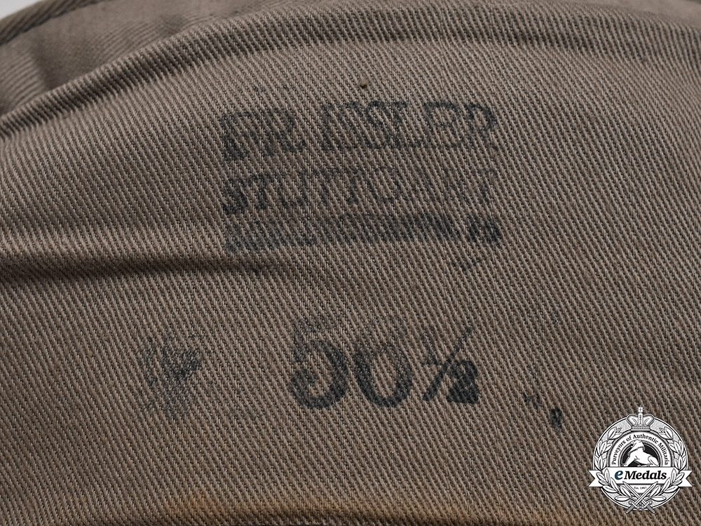 Germany, RBD. A Railway Protection Police Overseas Cap, Dated 1939