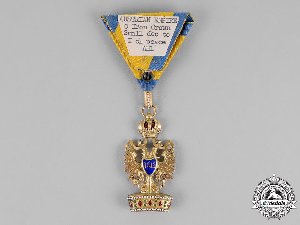 Austria, Empire. An Order of the Iron Crown, Third Class, with First Class Small Decoration, c.1914